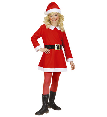 FLANNEL SANTA GIRL (dress belt hat) Childrens