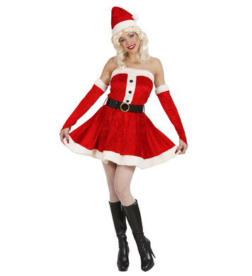 PLUSH MISS SANTA (dress belt gloves hat)