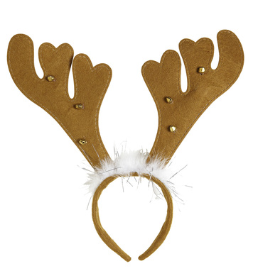 REINDEER HORNS WITH BELLS & MARABOU