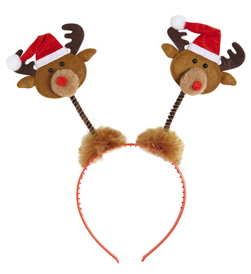 REINDEERS W/SANTA HAT HEAD BOPPERS