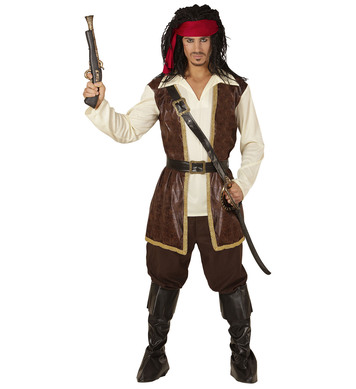 CARIBBEAN PIRATE(coat shirt pants sash h/band b/covers)