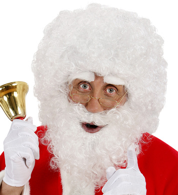 SANTA CLAUS CURLY WIG BEARD EYEBROWS
