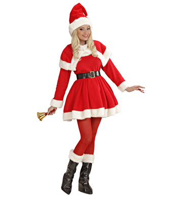 LADY SANTA DELUXE COSTUME (dress belt capelet hat bcove)