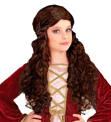 BROWN MEDIEVAL WENCH WIG in polybag