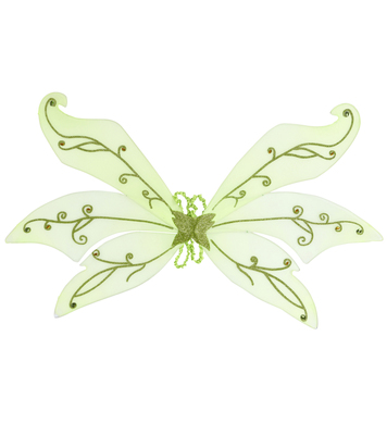 MAXI GREEN GLITTER WINGS W/GEMS 106cm x 72cm