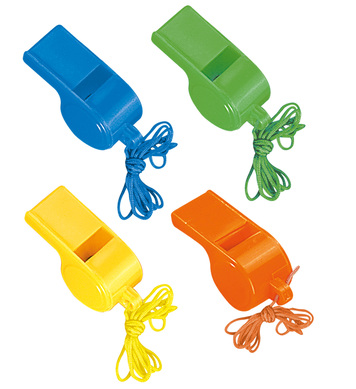 NEON WHISTLES SET OF 4 - 4 colours