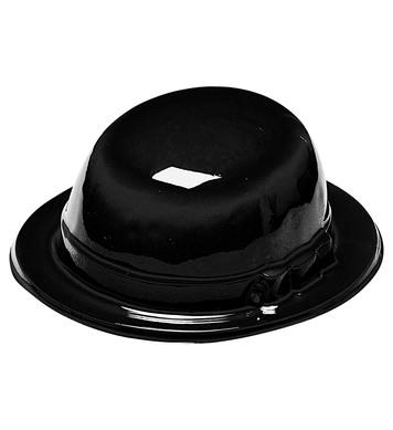 BLACK BOWLER HAT PLASTIC