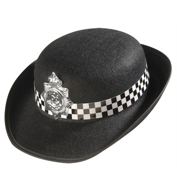POLICE HAT FELT WOMAN