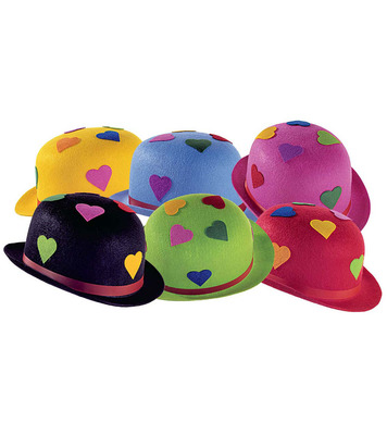 BOWLER FELT HEART - 6 colours