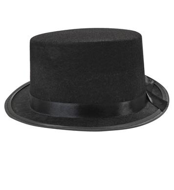 BLACK FELT TOP HAT