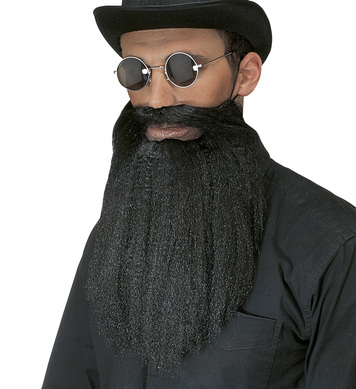 BEARD/MOUSTACHE WITH LIPS - black