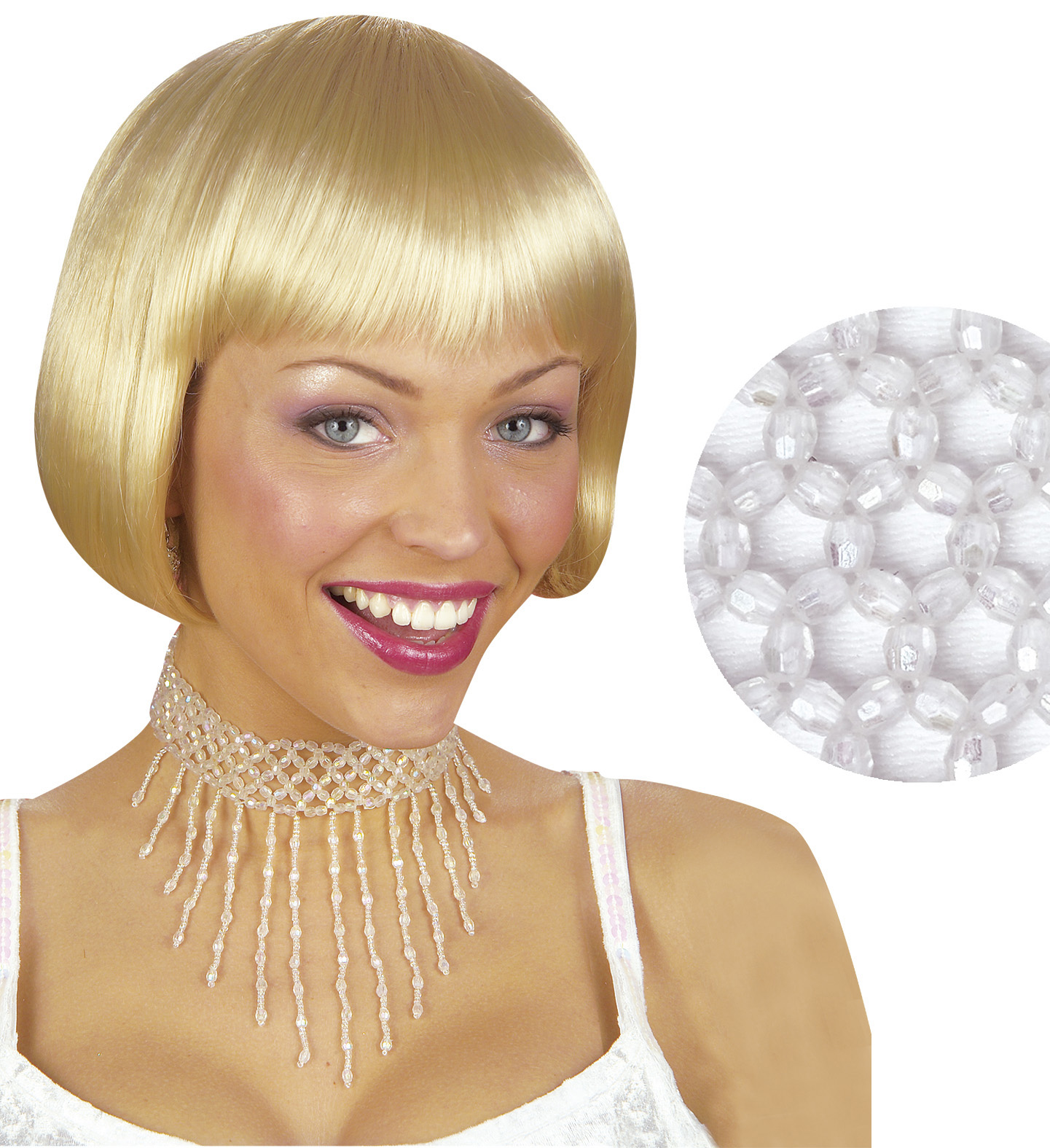 Beaded Choker - Jewellery 20s 30s Fancy Dress