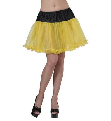 BLACK/YELLOW PETTICOAT