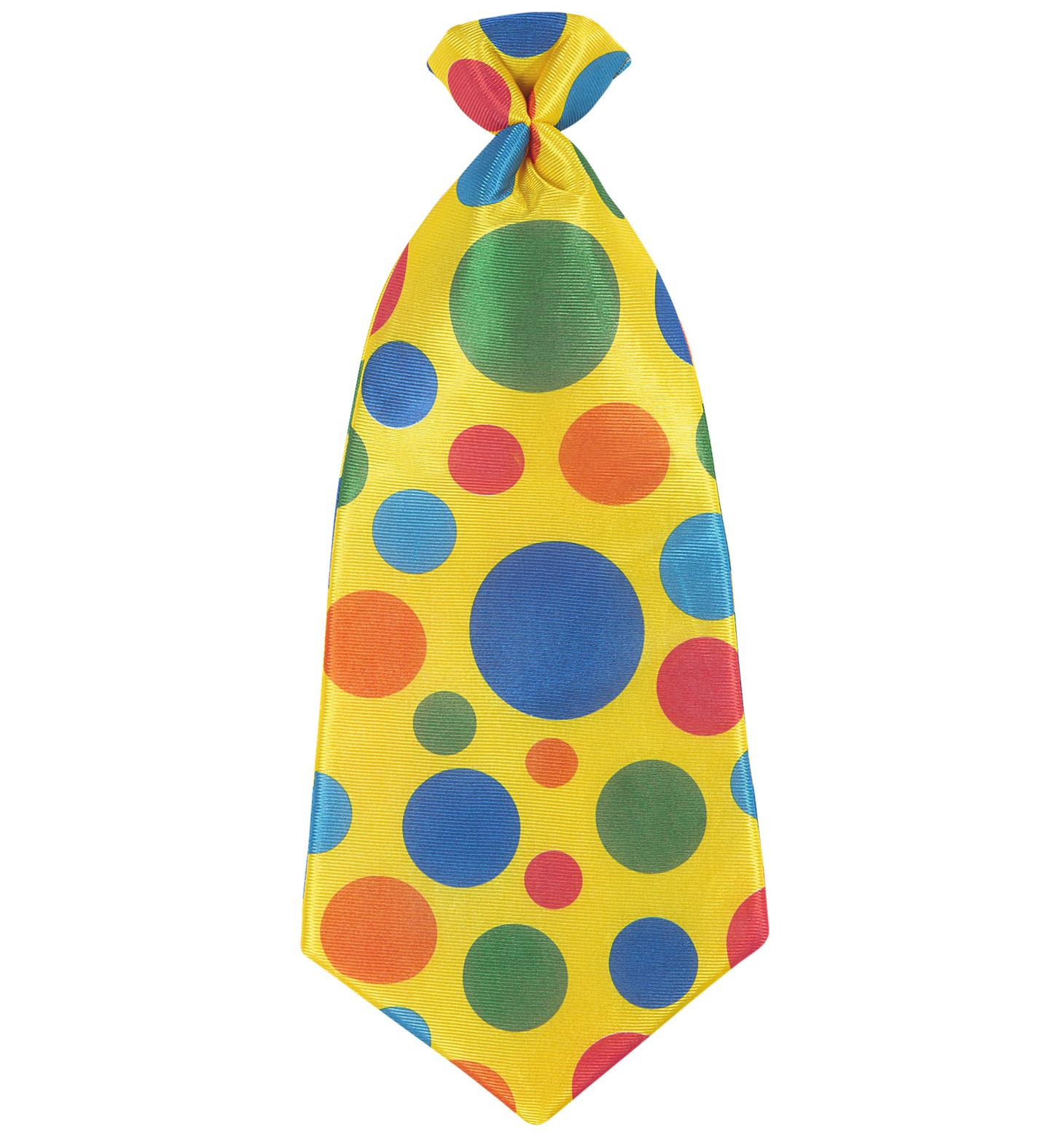 Maxi Clown Tie Necktie Circus Fancy Dress