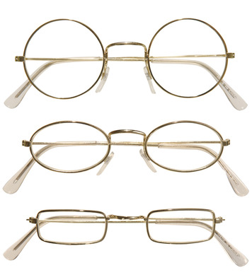 GLASSES WITH LENSES - ROUND
