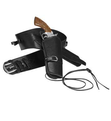 WESTERN HOLSTER BELT - BLACK