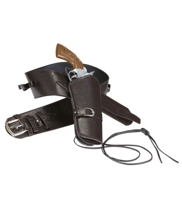 WESTERN HOLSTER BELT - BROWN