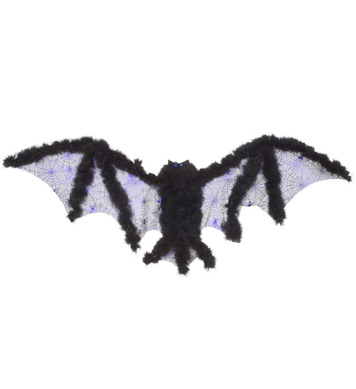 BAT WINGS W/MARABOU 102cm x 35cm