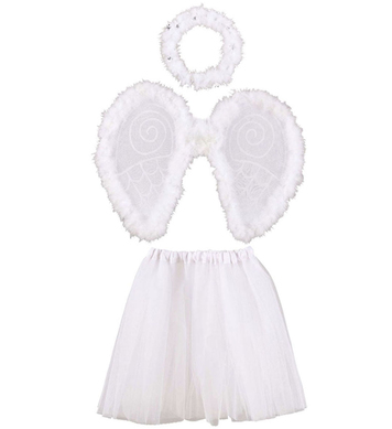 ANGEL DRESS UP SET (tutu wings halo)
