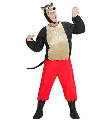 BIG BAD WOLF COSTUME (pants coat bcovers h/piece mask)