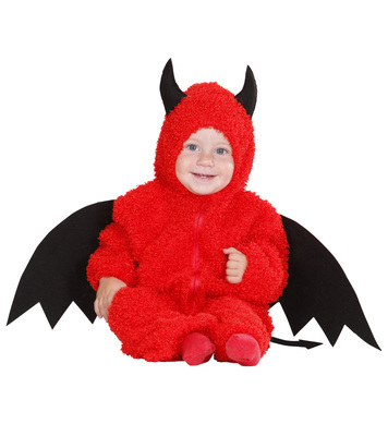 FUZZY DEVIL BABY (80cm/92cm) (hooded jumpsuit)