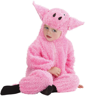 FUZZY PIG BABY (80cm/92cm) (hooded jumpsuit)