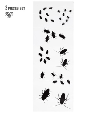 BUGS WALL ART STICKERS - 2 sheets of 25x70 cm