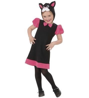 KITTY  TODDLER COSTUME (2-3yrs/3-4yrs) (dress headpiece)