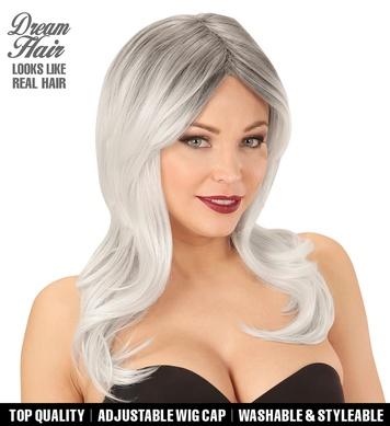 BLACK-GREY LINDSAY DREAM HAIR WIG in colour box