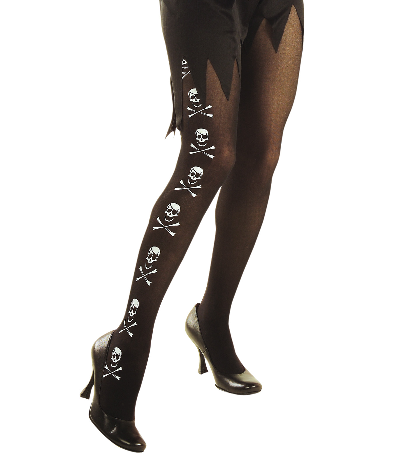 Pantyhose - Pirate Skull Bones Stockings Tights Pantyhose Lingerie Pirate