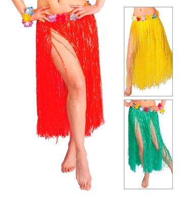 HAWAII SET- 3 colours (skirt belt bra crown lei cuffs)