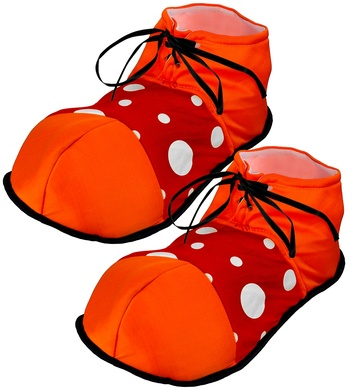 CLOWN MAXI SHOES - ORANGE WITH RED