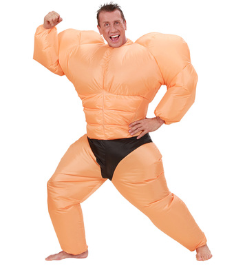 INFLATABLE BODYBUILDER COSTUME -Adult one size