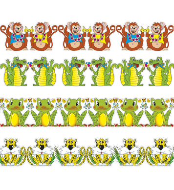 FUNNY ANIMAL PAPER GARLAND 3m - 4 styles