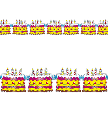 BIRTHDAY CAKE GARLAND 3m