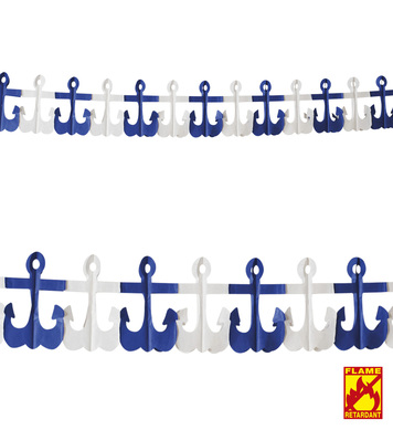 ANCHOR GARLAND - FLAME RET
