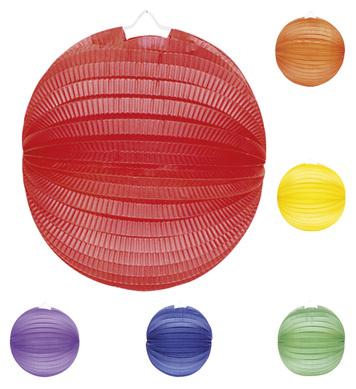 PAPER BALLS UNICOLOUR 33cm 6 colours asstd