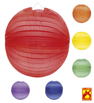 UNICOLOUR PAPER BALLS 33cm - 6 colours