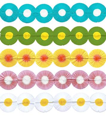 MAXI FLOWER PAPER GARLAND - 5 colours