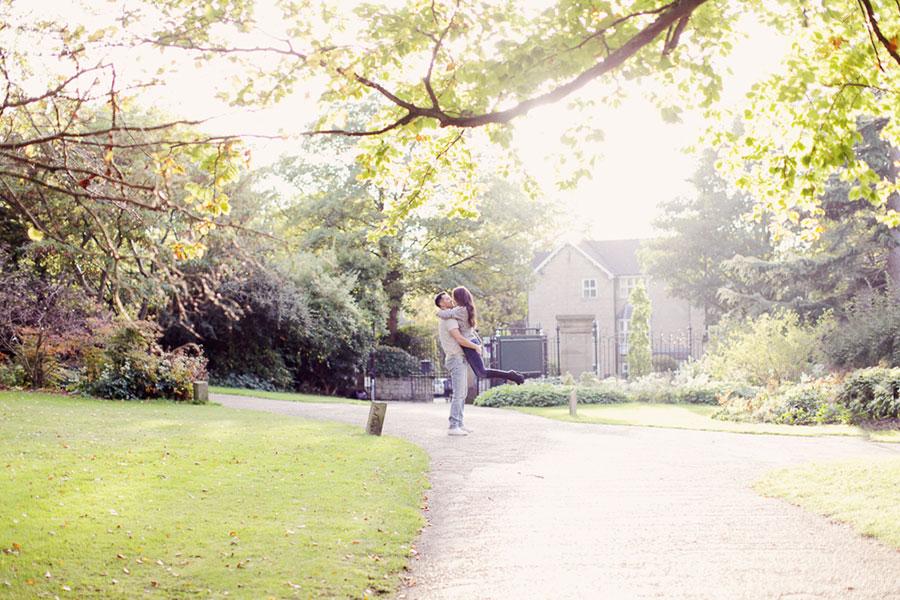Rebecca & Simon ♡ Engagement Photoshoot in The Sheffield Botanical Gardens