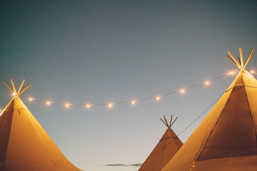 Tipi with fairylights