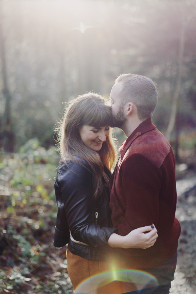 Gorgeous Sheffield engagement couple photoshoot location woodland Ecclesall Woods with natural photography by Sasha Lee Photography