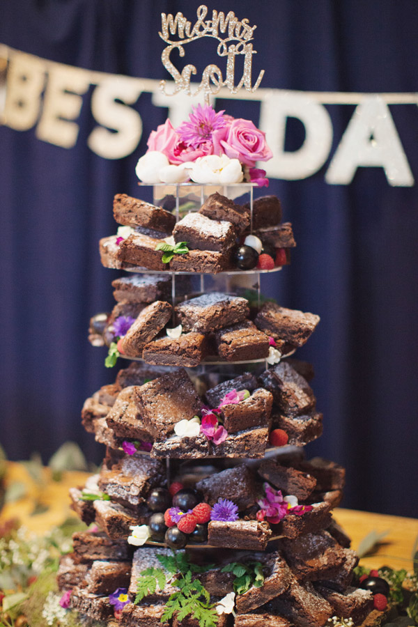 Brownie Tower Cake