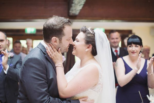 Beautiful Barnsley Sheffield South Yorkshire wedding venue at Tankersley Manor with natural photography of the ceremony
