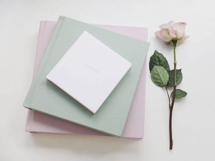 Folio Albums pastel purple Storybook wedding album