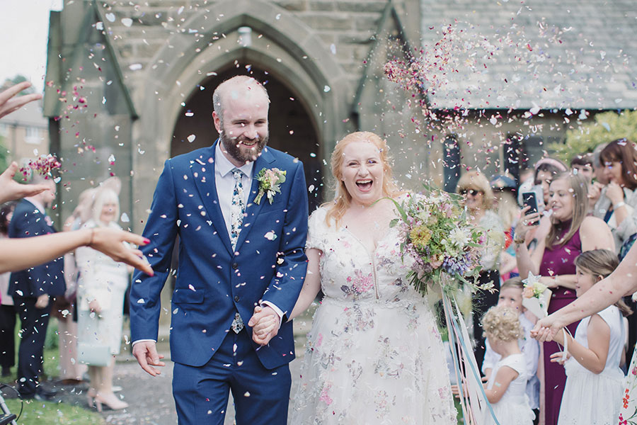 Maddie & James ♡ St John The Baptist Church & The Maynard, Peak District Wedding Photography