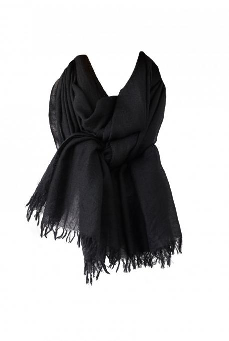 Image of Cashmere Scarf | Black