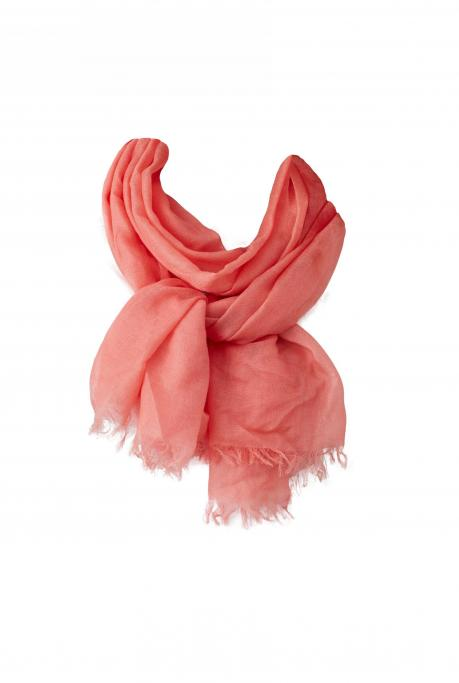 Image of Cashmere Scarf | Coral