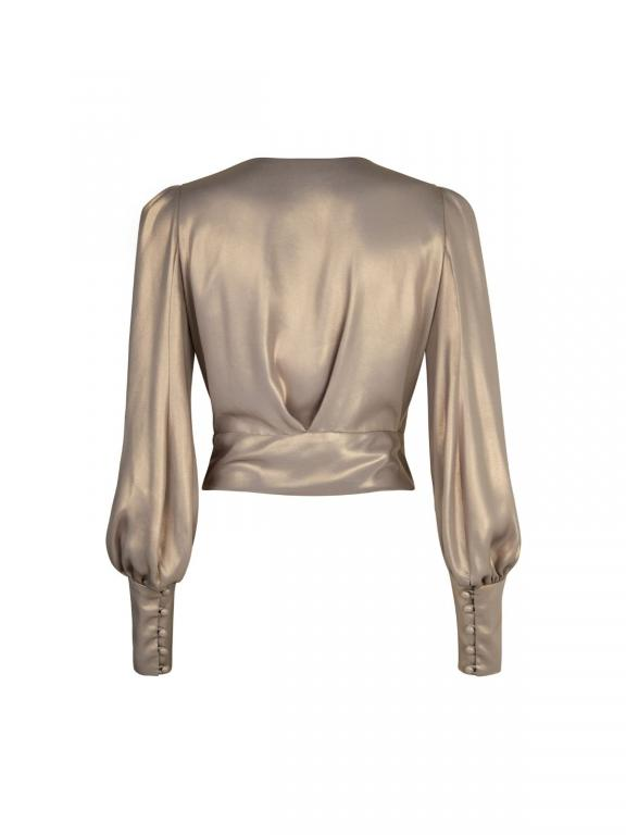 Sassi Holford luxor wrap blouse in gold