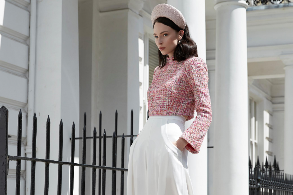 Sassi Holford Dublin Boucle Jacket in Pink